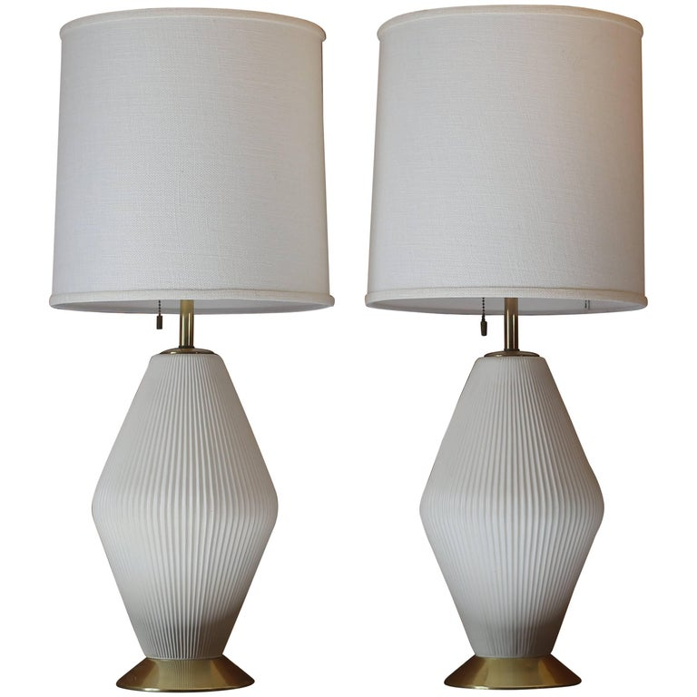 Pair of Gerald Thurston for Lightolier Ceramic Table Lamps