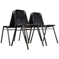 Early Set of Four 'Les Arcs' Chairs by Charlotte Perriand