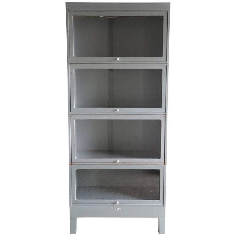 US Government Metal Barrister Bookcase
