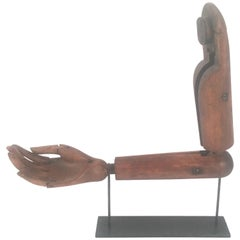 Antique Articulated Wood Artist's Hand and Arm Model