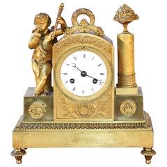 French 19th Century Empire Ormolu Clock