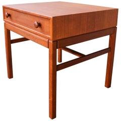 Teak Side or Bedside Table by Sven Engstrom & Gunnar Myrstrand for Tingstrom
