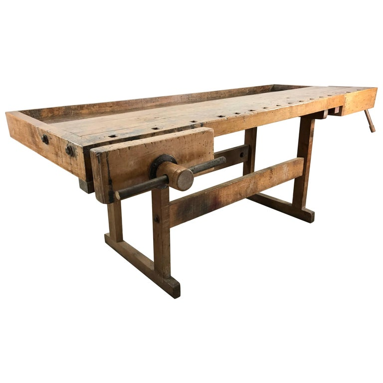 Turn of the Century Industrial Work Bench/Table, Kitchen Island