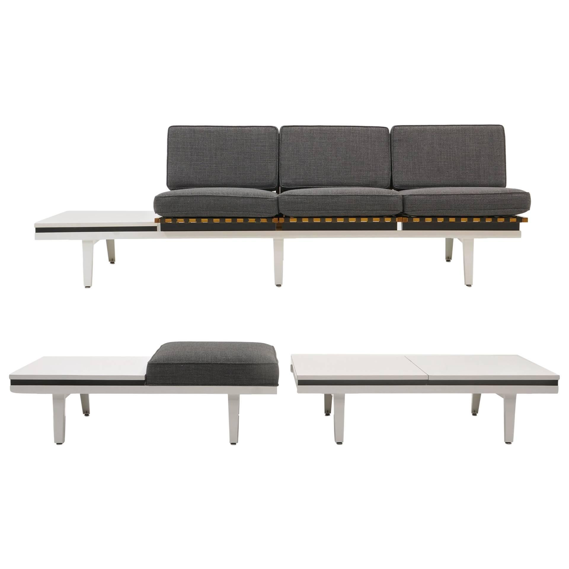 Steel Frame Sofa, Bench And Coffee Table By George Nelson For Herman Miller