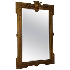 19th Century French Gilt Frame with Distressed Mirror