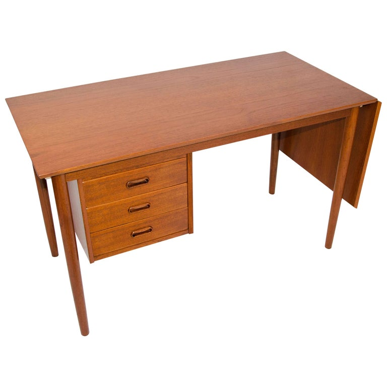 Danish Teak Desk with Extension by Arne Vodder
