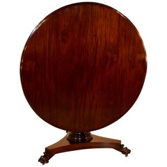 19th Century Mahogany Breakfast Table with Tilt-Top