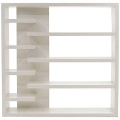 Gloss White Wall Unit or Bookshelves, One of a Kind