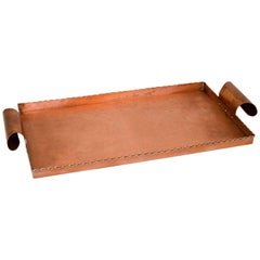 Arts & Crafts Style Copper Serving Tray