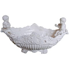 White Italian Porcelain Cherub Centrepiece