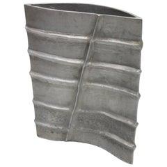 Signed Modernist Aluminum Vase