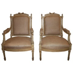 Late 19th Century French Pair of Armchairs