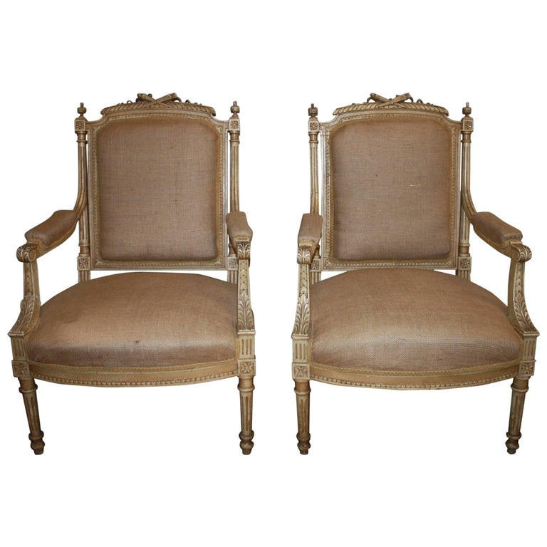 Late 19th Century French Pair of Armchairs For Sale