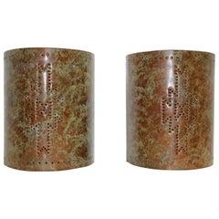 1970s Oxidized Copper Sconces