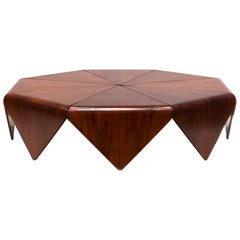 Petalas Rosewood Coffee Table, circa 1960s