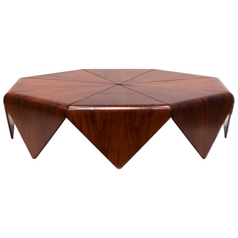 Petalas Rosewood Coffee Table, circa 1960s