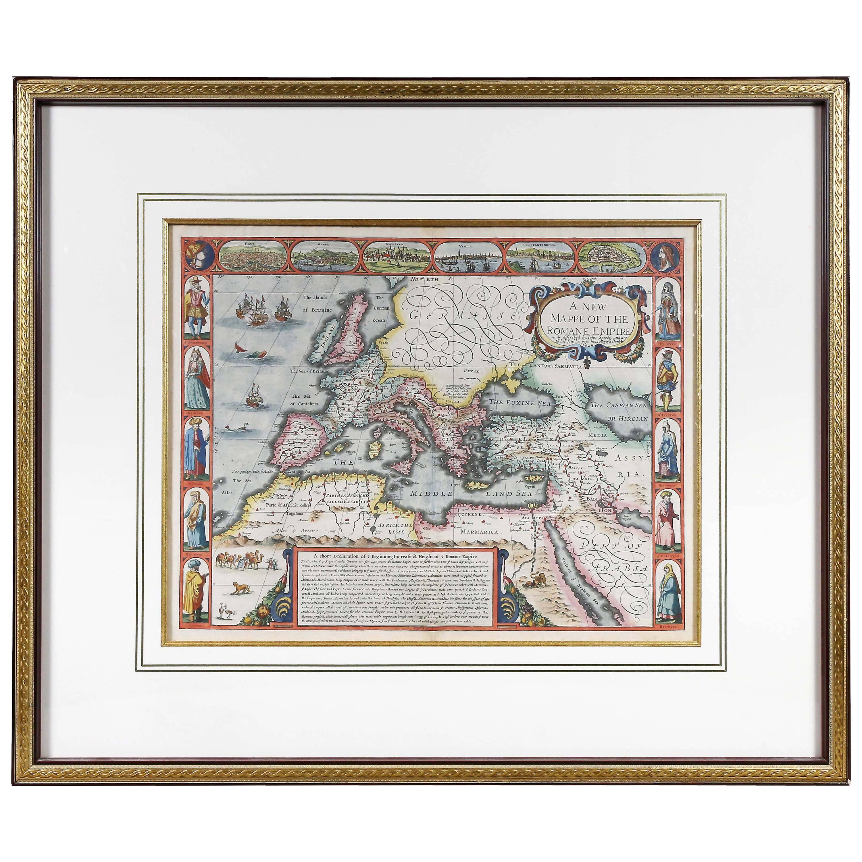Framed Map of Roman Empire