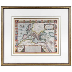 Framed Map of Roman Empire
