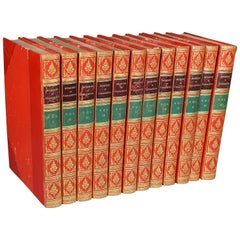 Set of 12 Leather Bound Volumes, Memoirs Casanova