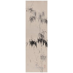 Bamboo, 18th Century Japanese Ink Painting by Cho Tosai