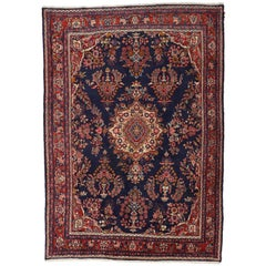 Vintage Persian Mehraban Rug with Traditional Style