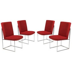 Set of Four Milo Baughman for Thayer Coggin Dining Chairs