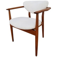 Finn Juhl Attributed NV55 Teak Armchair