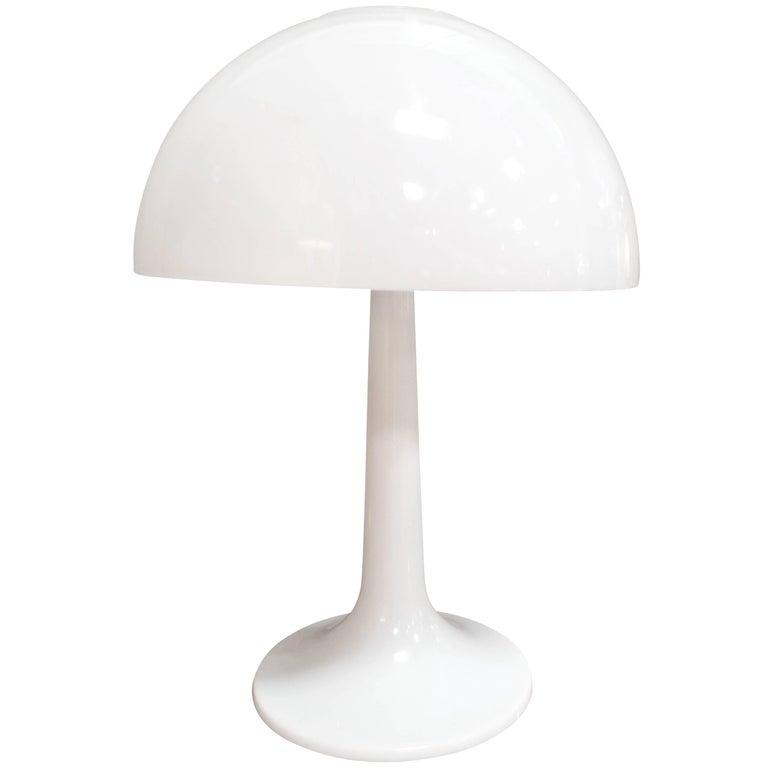 1970s Plastic Mushroom Lamp