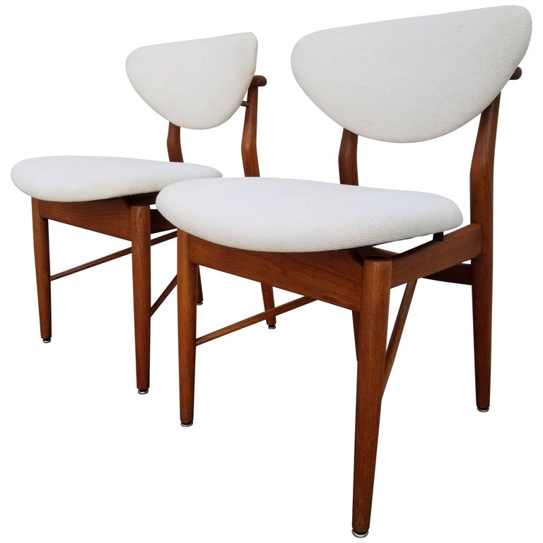 Finn Juhl Attributed Model 108 Teak Chairs