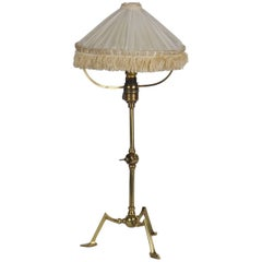 Brass Table Lamp Attributed to W.A.S Benson