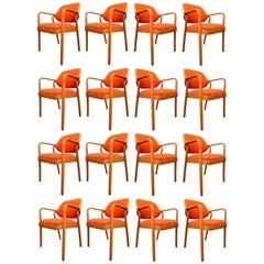 Set of 17 Don Pettit Armchairs for Knoll