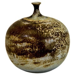 Ceramic Vase with Shadow Patterns, Appleshaped, 1960s
