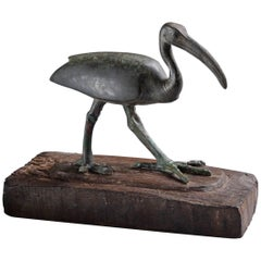 Ancient Egyptian Bronze Sacred Ibis Bird, 664 BC