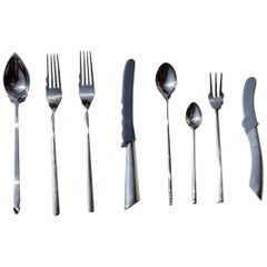 """""""Alix"""" Borek Sipek by Driade, 1980s Design Silver Postmodern Cutlery Flatware"""