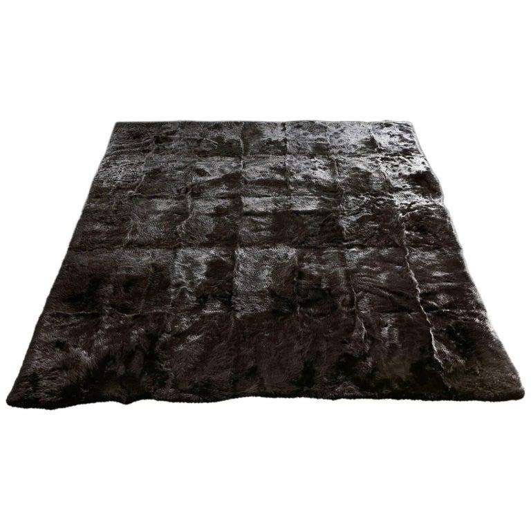Black Tuscany Lambskin Rug