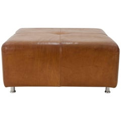 Large Leather Ottoman