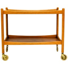 Midcentury Poul Volther Serving Cart for Gemla