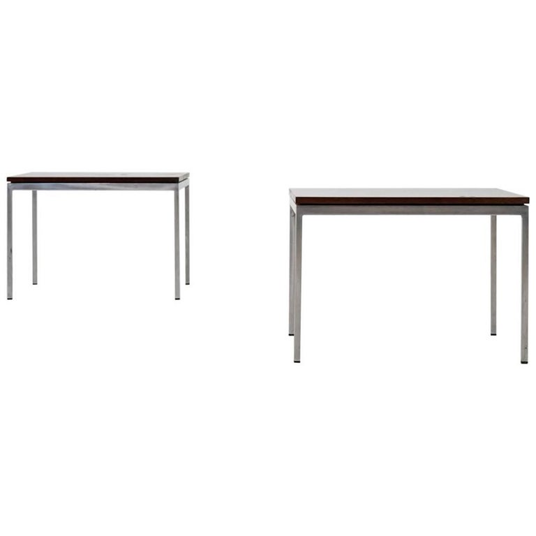 Pair of Midcentury Side or Sofa Table by Florence Knoll International