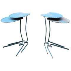 Set of Four Salterini Nesting Outdoor Leaf Tables