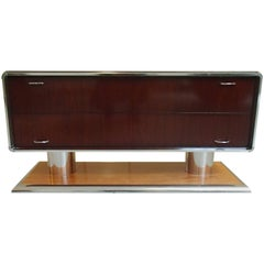 Mid-Century Modern Chest of Drawers Rosewood and Chrome