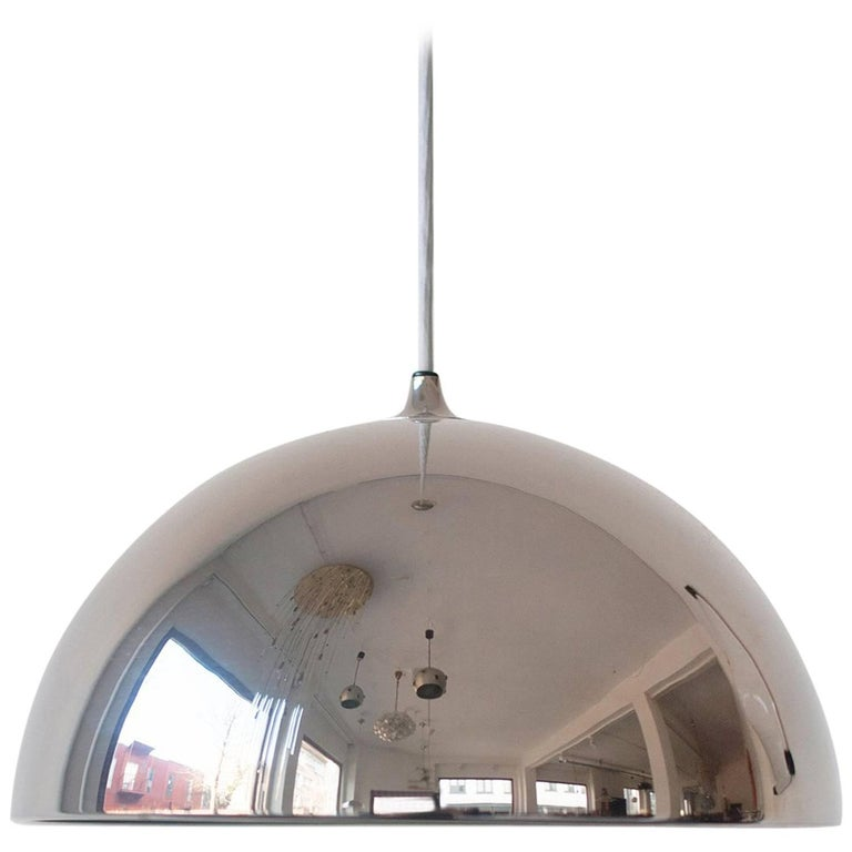 Beautiful Chrome Dome Pendant Designed by Florian Schulz, Germany