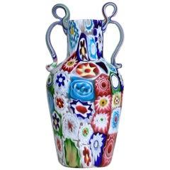"""Muranoglas-Vase """"Millefiori"""" von Ferro Toso & Co., 1910"""