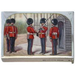 "Victorian Silver and Enamel ""Changing of the Guard"" Vesta Case, S Mordan, 1897"