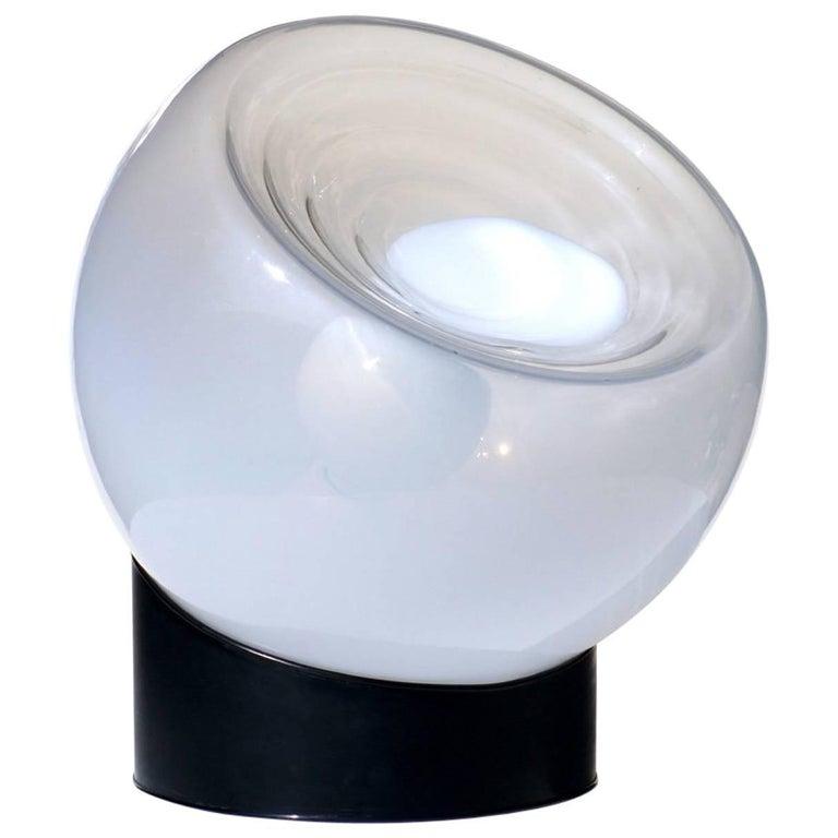 1960s Italian Design by Selenova Glass Table Lamp For Sale