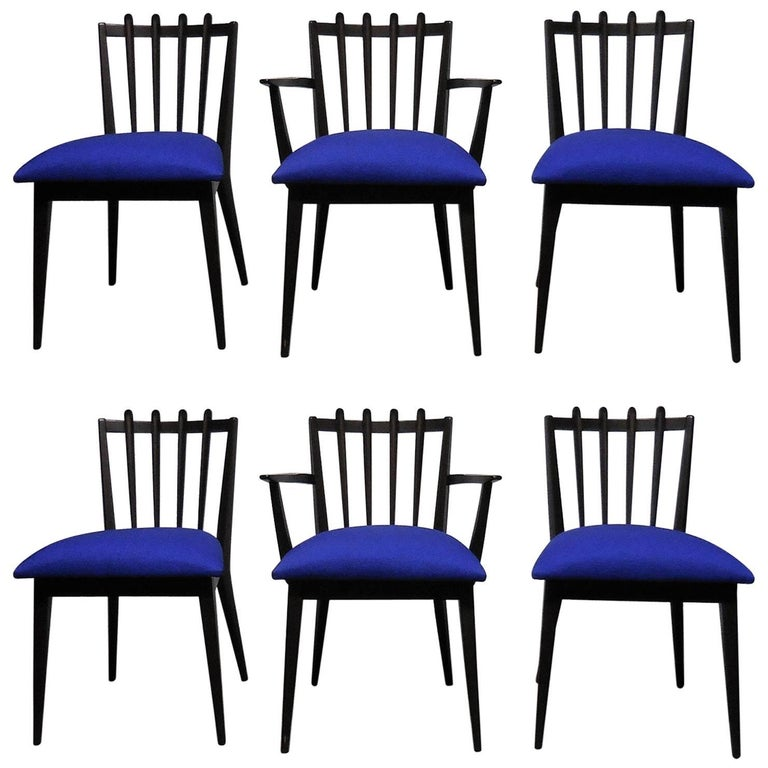 Midcentury Swedish Dining Chairs by Edmond Spence, Set of Six