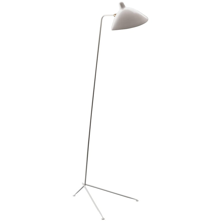 Serge Mouille 'Lampadaire Droit' Floor Lamp 'Numbered & Certificate' For Sale