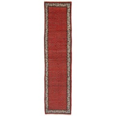 Vintage Persian Saraband Rug Hamadan Runner with Mir Boteh Design