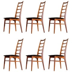 Set of Six Niels Koefoed Dining Room Chairs, Denmark 1960s