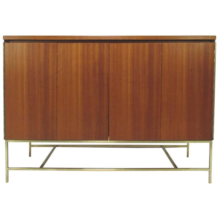 Paul McCobb for Calvin Mahogany and Brass Sideboard