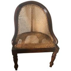 British Colonial, Ceylonese, Nadoun Wood and Caned Nursery Chair, circa 1900